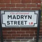 Cartel de la calle donde vivio Ringo