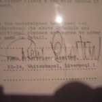 Firma de Brian Epstein en un contrato