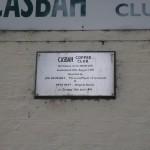 Placa conmemorativa del Casbah Coffe Club