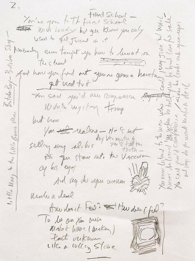 manuscrito-like-a-rolling-stone-bob-dylan--644x862