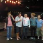 Después de la actuación en el escenario