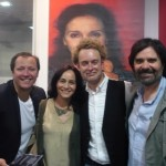 Marcos Barcena con su chica , Dean y David