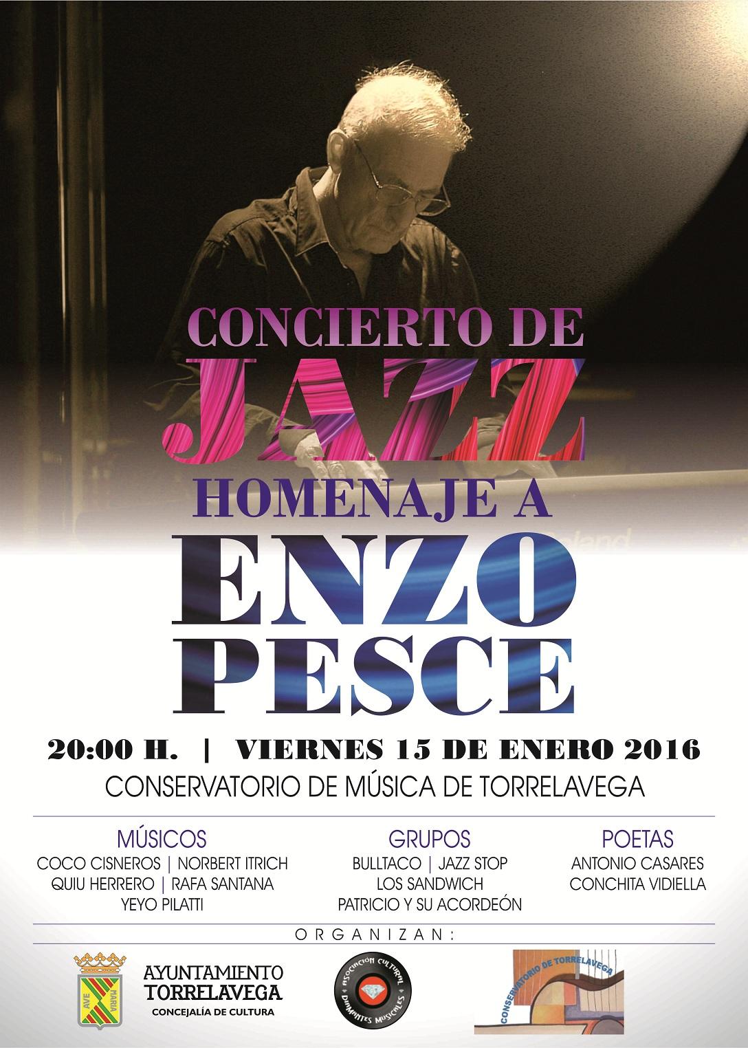 Cartel Homenaje a Enzo Pesce