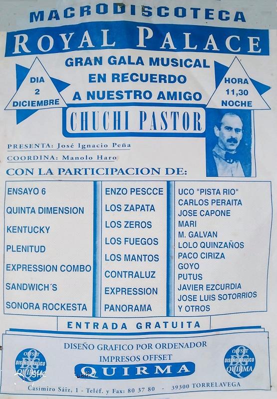 """Cartel del concierto homenaje a """"Chuchi"""" Pastor"""